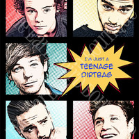 One Direction Teenage Dirtbag Comic Print 1D Harry Styles, Zayn Malik, Louis Tomlinson, Liam Payne, Niall Horan Art Poster