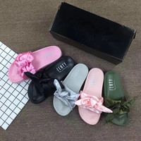 """PUMA"" Rihanna Fenty Leadcat Bow Slide Sandals Shoes"