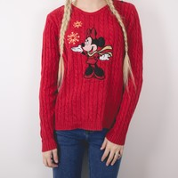 Vintage Minnie Mouse Ugly Christmas Sweater