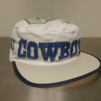 Vintage Dallas Cowboys Promotional Painters Cap Adjustable Elastic Back Hat NFL Football Made By Starline