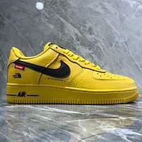 Nike Air Force 1 Mid LV8 AF1 GS Low Band Litchi Patterned Leather Panel Shoes