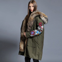 Nine Green Patchwork Parka
