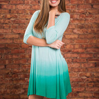 Restful Waves Dress, Mint
