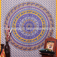 Hippie Elephant Tapestries, Wall Hanging , Indian Mandala Tapestry, Cotton Bedspread , Dorm Tapestry, Decorative Wall Hanging, Beach Sheet
