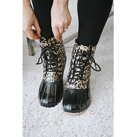 Leopard Print Duck Boot (Sale)