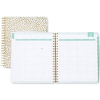 "Day Designer ""Spotty Dot"" Academic Year Daily/Monthly 8 x 10 Planner, Jul 2016 - Jun 2017"