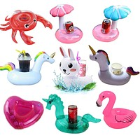 Inflatable Cup Holder Unicorn Flamingo Drink holder Swimming Pool Float Bathing pool Toy Party Decoration Bar Coasters