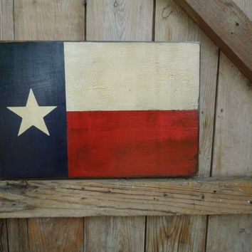Rustic Texas state flag sign, distressed old wood texas flag, texas flag wall decor, texas flag wall art, painted old wood texas flag sign