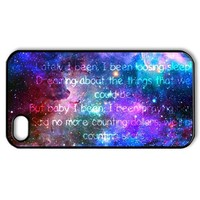 Vcapk Popular Rock Band One Republic Counting Stars Quote Space Universe iPhone 4,4S Hard Plastic Phone Case