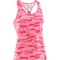 Under Armour Women's Power in Pink Fly-By Printed Stretch Tank Top - Dick's Sporting Goods