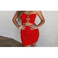 Hot Sexy Dresses Hollow Sleeveless Backless Women's Button Folded Dresses
