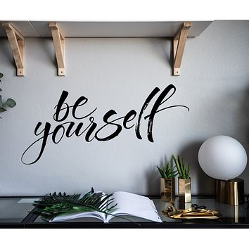 Vinyl Wall Decal Motivation Phrase Be Yourself  Stickers Mural z4920