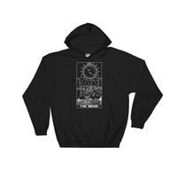 The Moon Tarot Hooded Sweatshirt Black