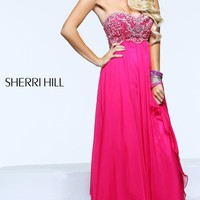 Strapless Evening Gown by Sherri Hill