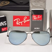 Cheap NEW Authentic Ray Ban RB3025 029/30 58mm AVIATOR Matte Gunmetal Silver Mirror