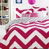 Chevron Pink 5 Piece Comforter Sets