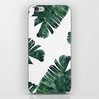 Banana Leaf Watercolor Pattern #society6 iPhone & iPod Skin by 83oranges.com