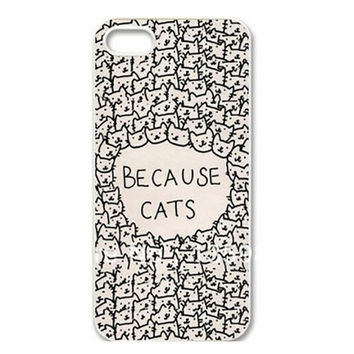 Because Cats pattern Hard Skin Case Cover Back Protector For iPhone 6plus 6 5 5s 5c 4 4s = 1929673604