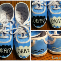 The Fault in Our Stars Hand-Painted acrylic custom shoes made to order!