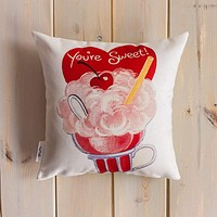 You're Sweet Valentines   Pillow Cover   Valentine card motifs   Throw Pillow   Valentines Day Gifts for Her   Valentines Day