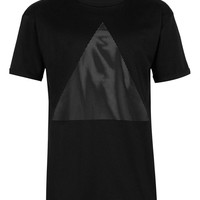 Black Mesh Overlay Triangle T-shirt - T-Shirts & Tanks - New In - TOPMAN USA