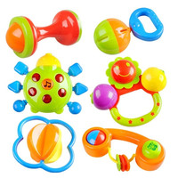 Lovely Colorful Children Baby Toys Hand Bell Ring Rattle with Music & Light = 1946179460