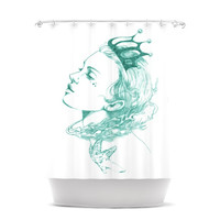 """Lydia Martin """"Queen of the Sea Green"""" Shower Curtain"""