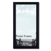 "Decorative Black Wood 1.25"" Wide Wall Hanging Poster Frame"