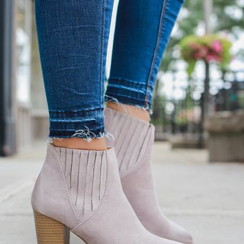 Going My Way Booties - Taupe