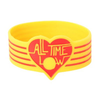 All Time Low Red Heart Rubber Bracelet