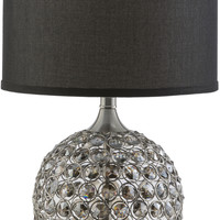 Dauphine Glam Table Lamp Brushed Nickel Silver