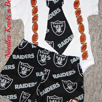 Boys Las Vegas Raiders Football Outfit, Baby Boys Raiders Game Day Outfit, Boys Coming Home Outfit