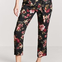 Floral High-Rise Ankle Pants
