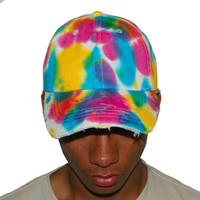 Vintage Culture Multi Tie Dye Distressed Dad Cap