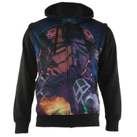 Star Wars - Galagas Sublimated Zip Hoodie With Removable Sleeves