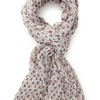 Spotted Bird Crinkle Scarf