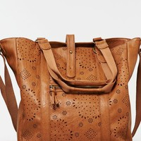 's Faux Leather Tote Bag (Vachetta Brown)