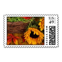 Fall Harvest Sunflowers Stamps