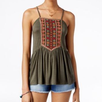 American Rag Embroidered Babydoll Tank Top, Only at Macy's | macys.com