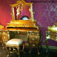 Fabulous and Baroque — Fabulous & Rococo Dressing Table - Gold Leaf - Client Photo