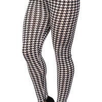 Black and White Houndstooth Leggings Design 108
