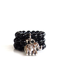 Courage Gemstone Rings Yoga Jewelry Healing Balancing Black Earthy Unique Etsy Gift For Her or Him Under 20 Item L7
