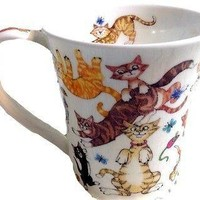 Dunoon Coffee Mug Cats Galore Gift Boxed