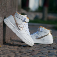 "Comfort ""Nike"" Air High-top Shoes White Sneakers Unisex Skateboard Shoes [9115454919]"