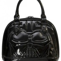 """""""Star Wars Darth Vader"""" Patent Mini Dome Bag by Loungefly (Black)"""