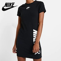 NIKE Summer Fashion Women Casual Print Slim Sport Dress