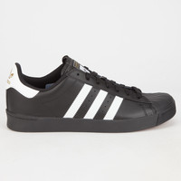 Adidas Originals Superstar Vulc Adv Mens Shoes Black/White  In Sizes
