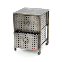Go Home Two Drawer Industrial Bin Unit - 10590