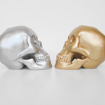 Skulls, Candle Holder, Skull, Votive Holder, Skull Decoration, Human Skull, Skull Sculpture