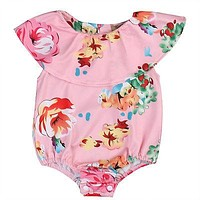 born Baby Girl Floral Romper Summer Sleeveless Cute Toddler Kids Jumpsuit Outfits Sun-suit Children Clothes